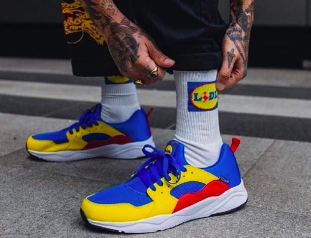 Sneaker della catena di Supermercati marchiati Lidl